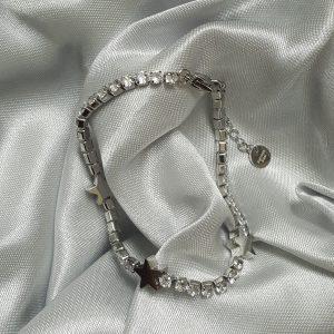 Гривна медицинска стомана с кристали