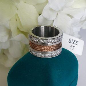 Масивен пръстен от неръждаема стомана