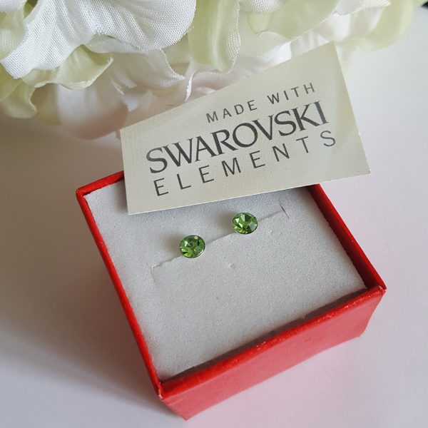 Обеци на винт Сваровски кристали