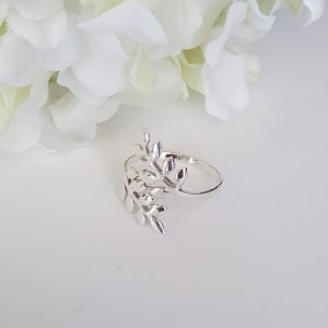 Сребърен пръстен Маслинова клонка