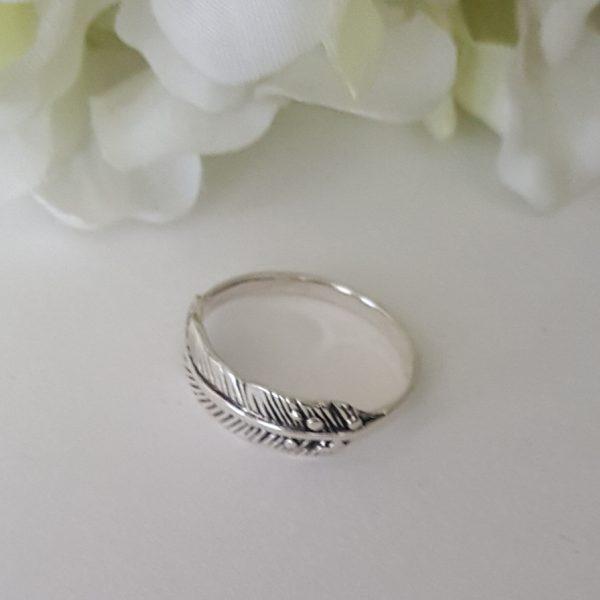 Сребърен пръстен Перо