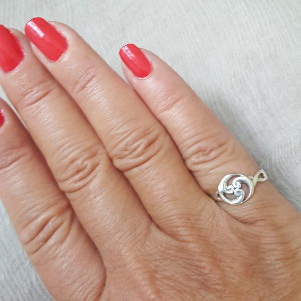 Келтски пръстен Тринити сребро