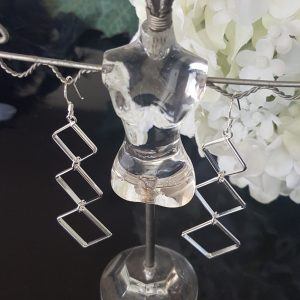 Дълги сребърни обеци онлайн