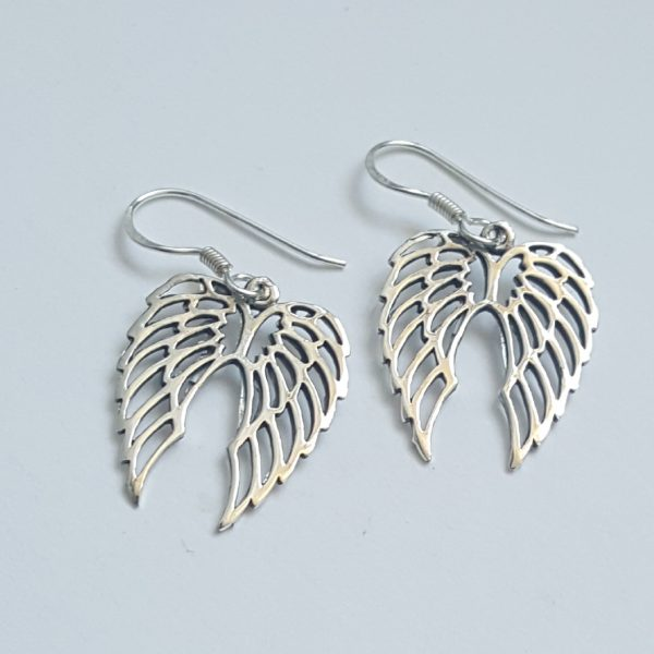 Ангелски крила Сребърни обеци