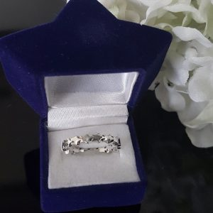 Сребърен пръстен халка Звезди