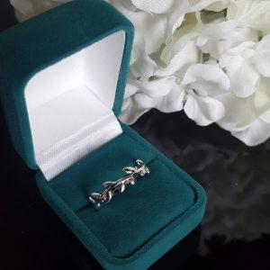 Сребърен пръстен халка