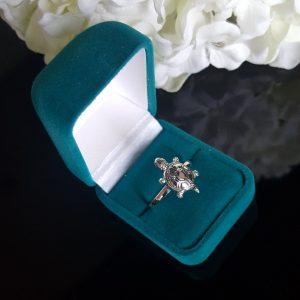 Сребърен пръстен Костенурка