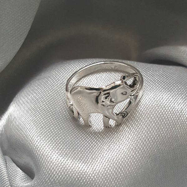 Сребърен пръстен Слонче