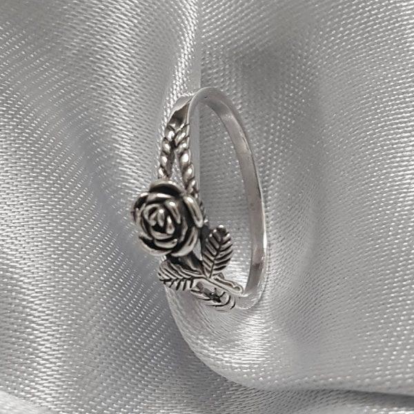 Сребърен пръстен Роза онлайн