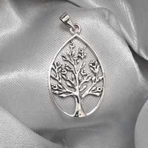 Сребърна висулка за колие Дървото на живота 3