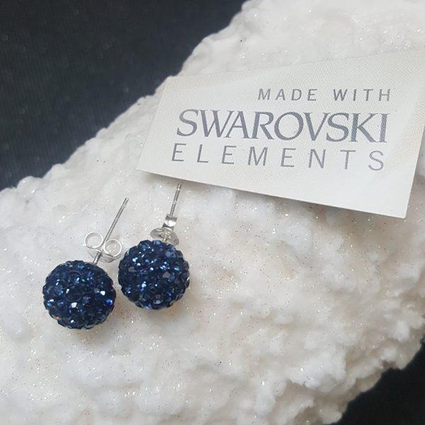 Сребърни обеци PAVE Swarovski Монтана