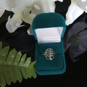 Сребърен пръстен Дървото на живота овал