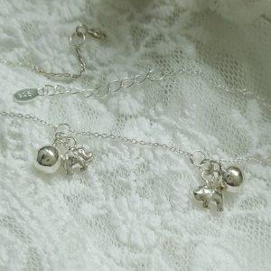 Сребърна гривна за глезен Бали