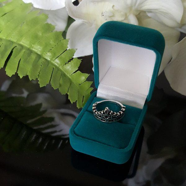 Сребърен пръстен Корона Тиара