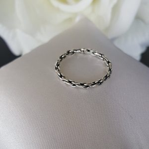 Сребърен пръстен халка Крео