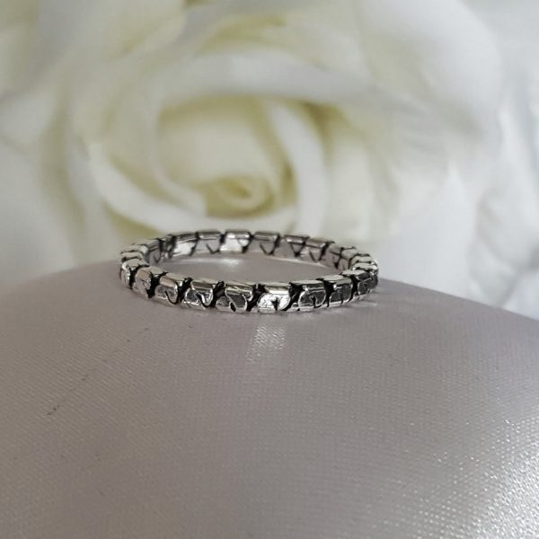 Сребърен пръстен халка Карт