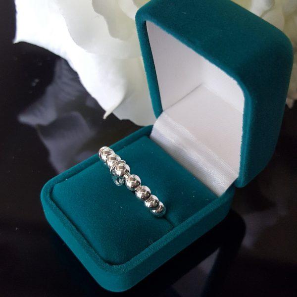 Сребърен пръстен халка Пандоре