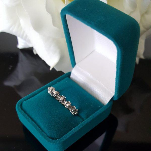 Сребърен пръстен халка Маргарита