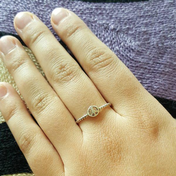 Сребърен пръстен Знак на мира