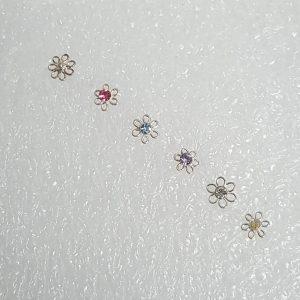 Пиърсинг за нос Флора с кристал Swarovski