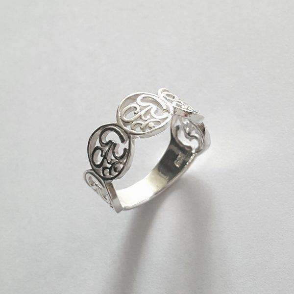 Сребърен пръстен Ом
