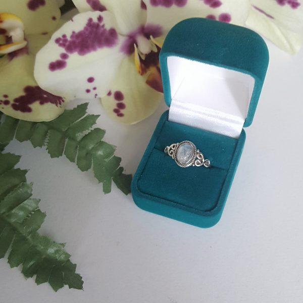Сребърен пръстен с Лунен камък Реа