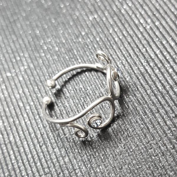 Сребърен пръстен за крак Сапфир