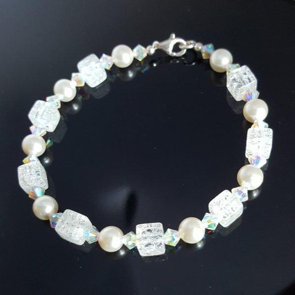 Гривна Планински кристал, Перли и кристали Swarovski