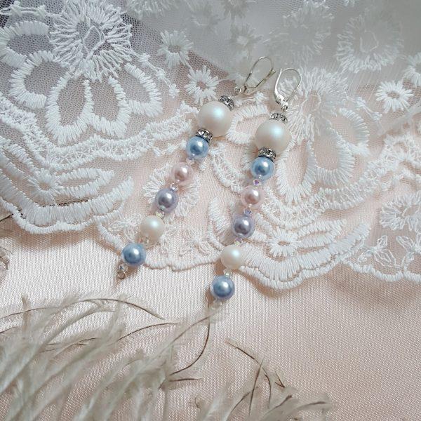 Обеци с перли Swarovski Crystal